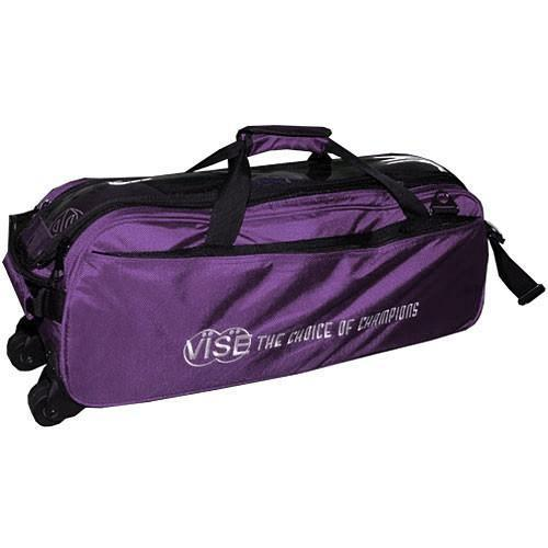 Vise 3 Ball Clear Top Tote Roller Purple - DiscountBowlingSupply.com