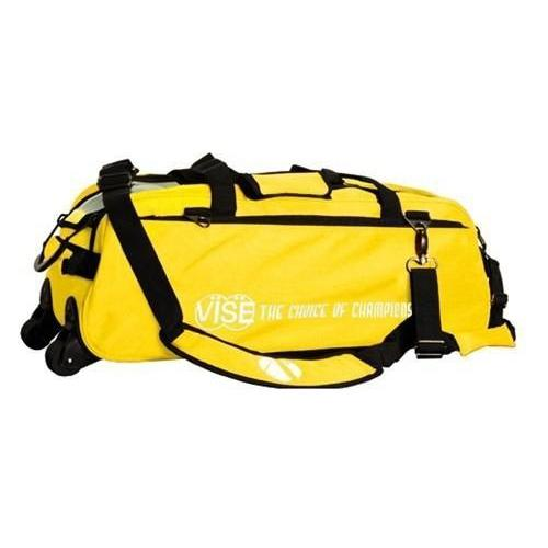 Vise 3 Ball Clear Top Tote Roller Yellow-Bowling Bag-DiscountBowlingSupply.com
