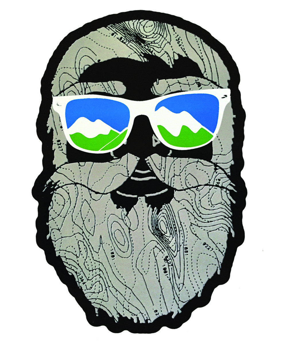 Mountain man sticker