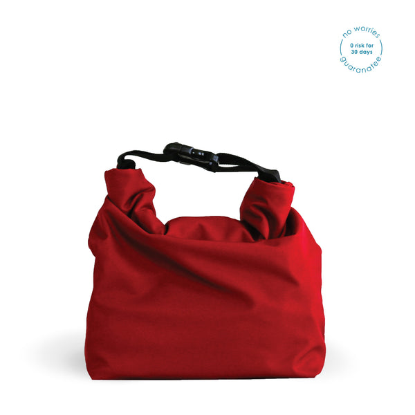 red stylish lunch bag for men and women rü supply co.