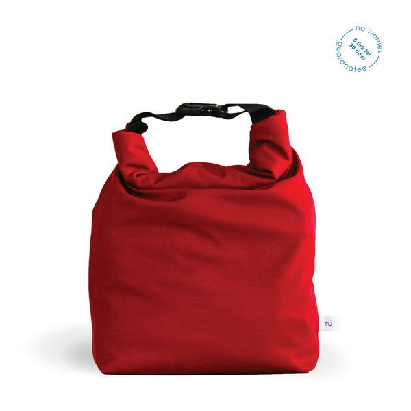 red lunch bag