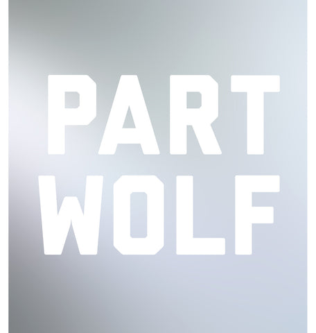 part wolf decal