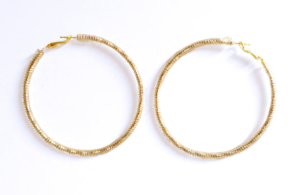 XL JELLIE HOOP EARRINGS LA REUNION JEWELRY