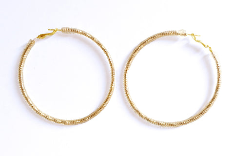 MD JELLIE HOOP EARRINGS LA REUNION JEWELRY