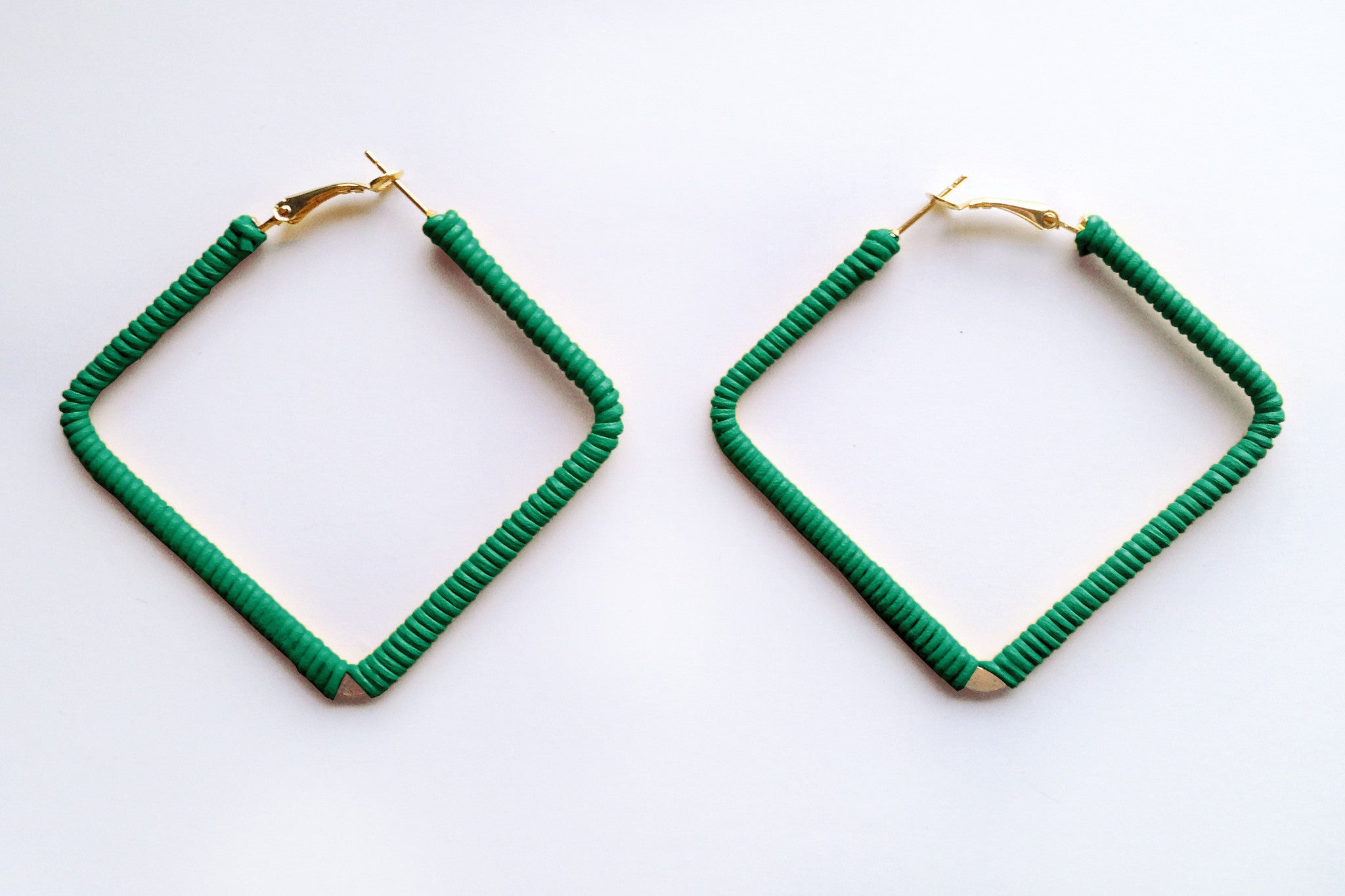 Square Green Hoops