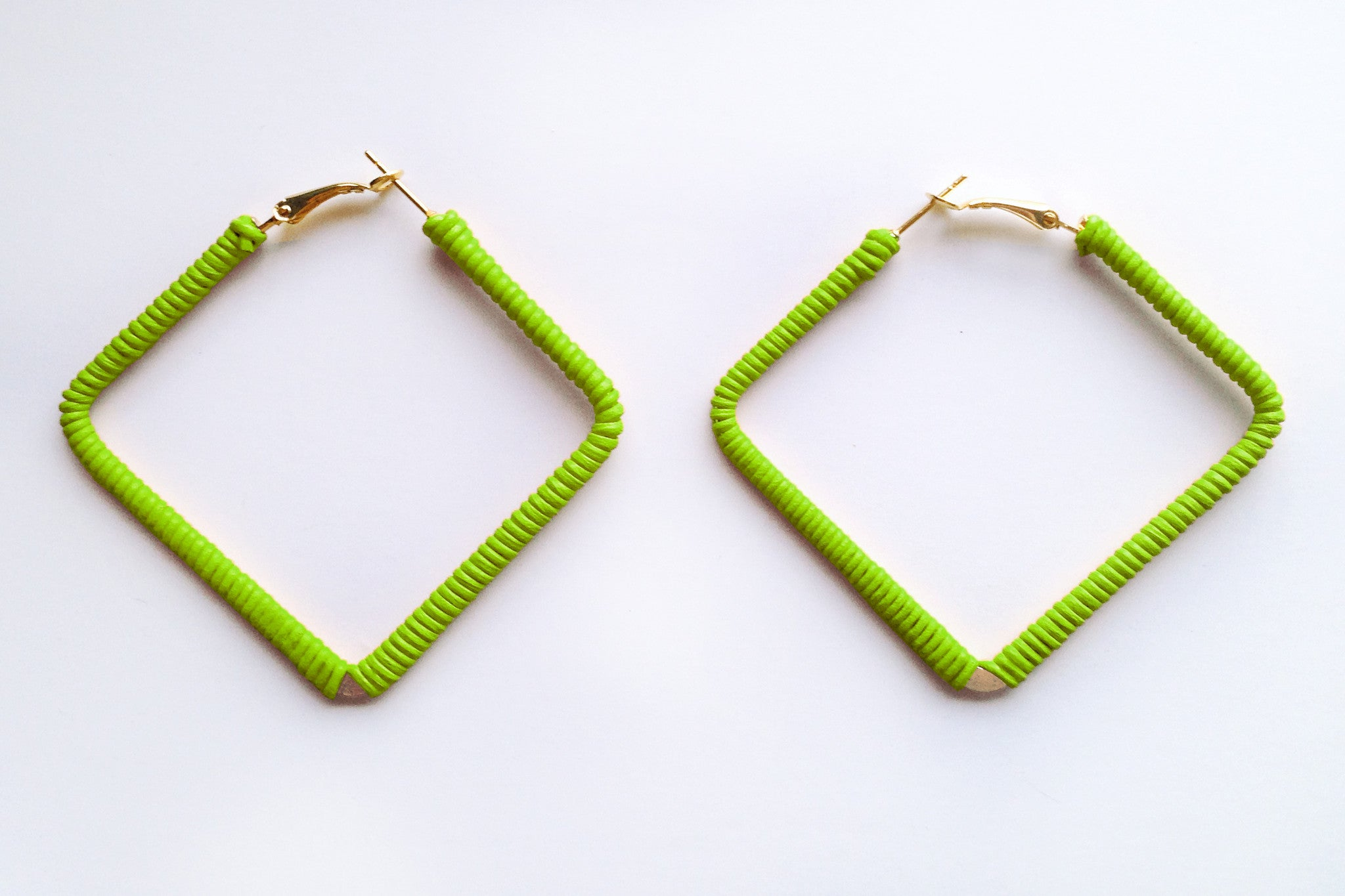 Square Lily Hoops