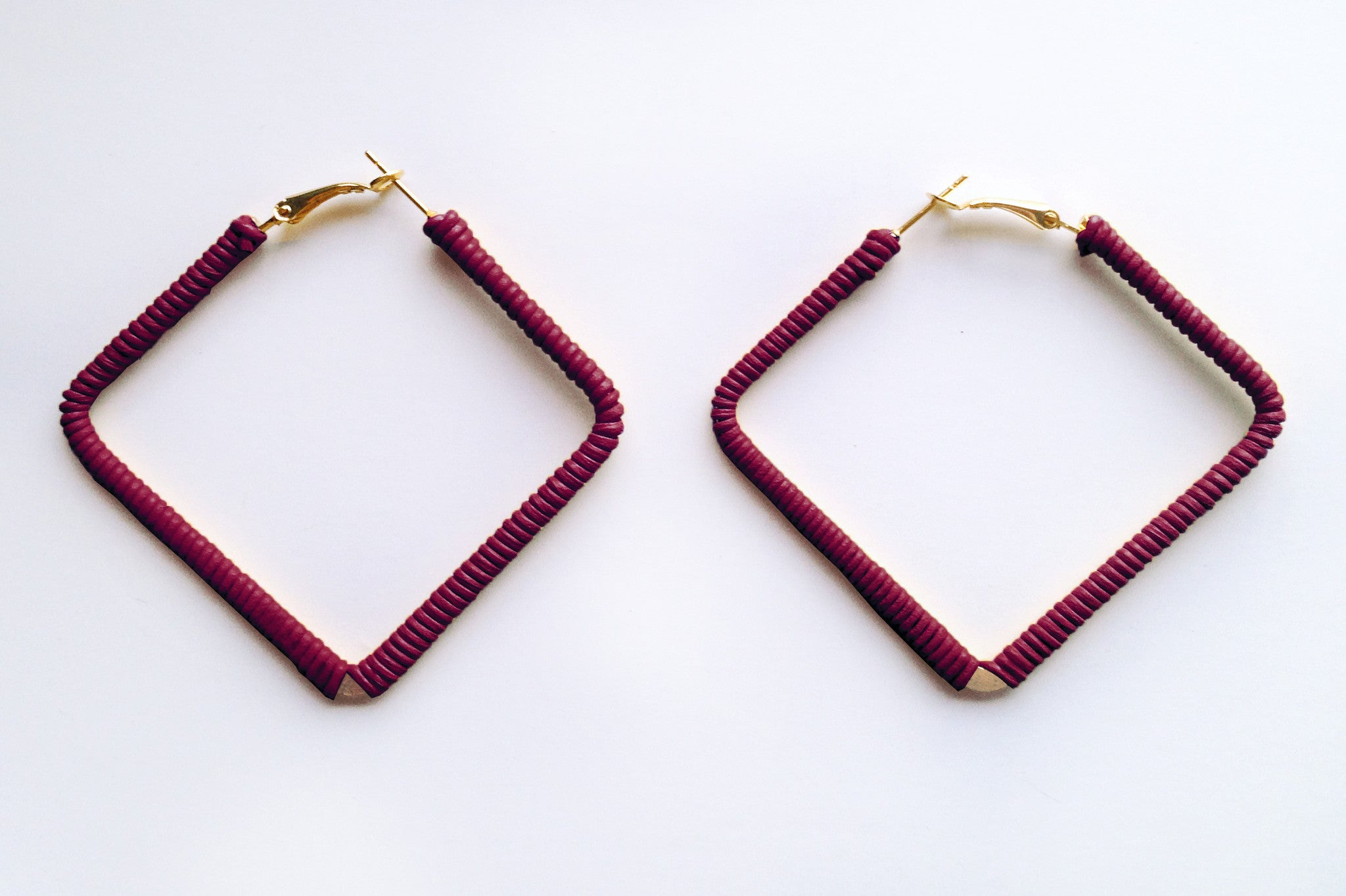 Square Plum Hoops
