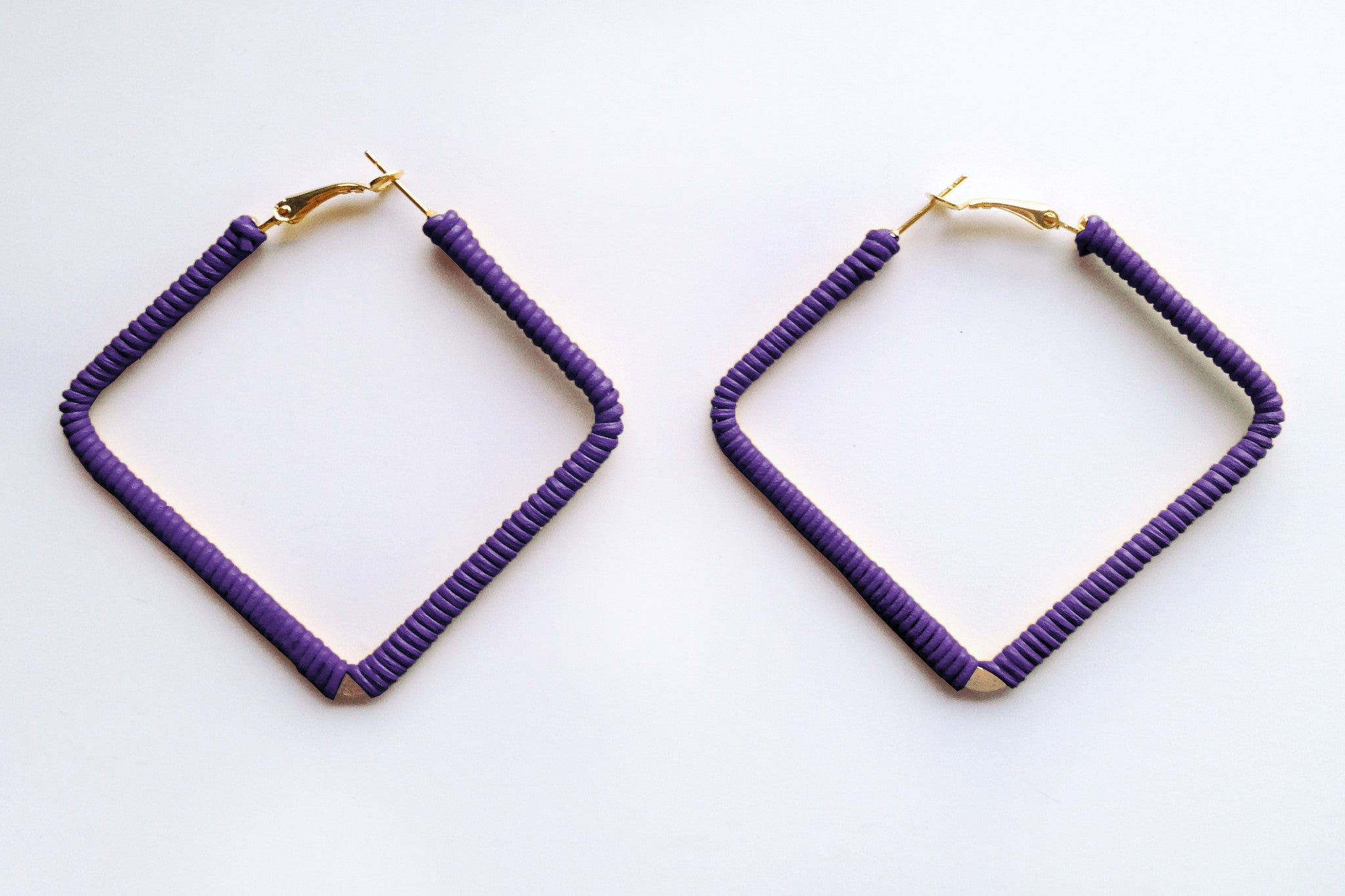 Square Purple Hoops