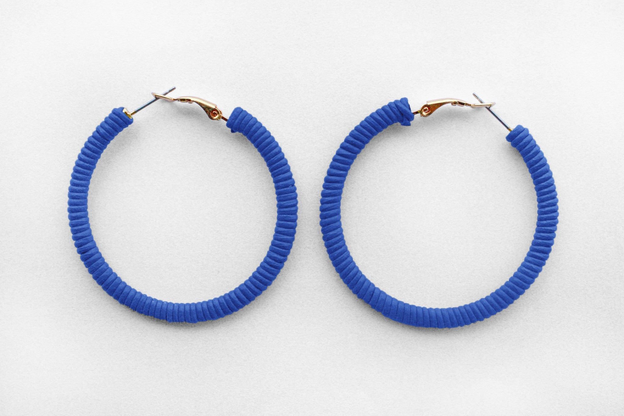 Small Blue Hoops