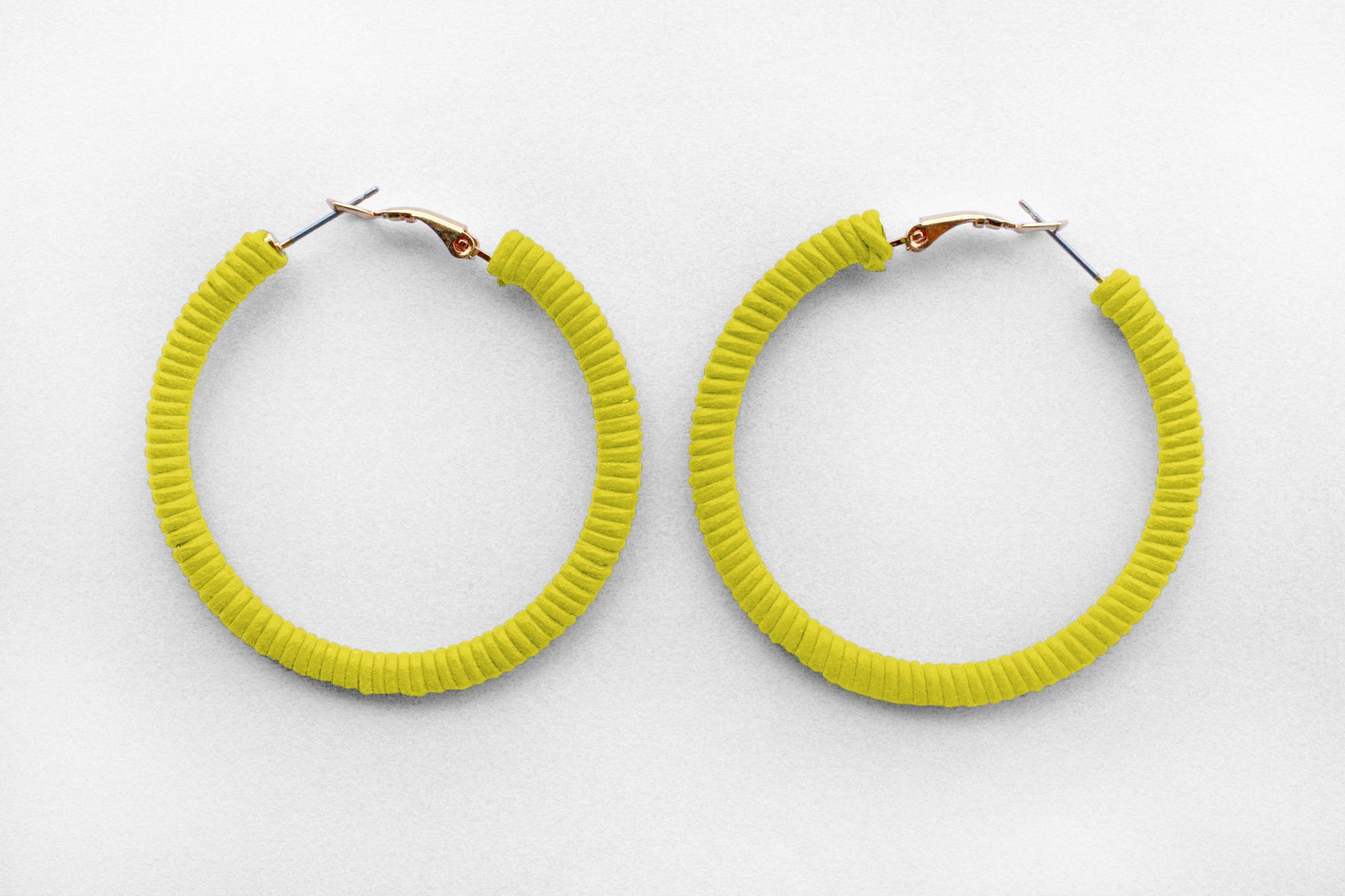 Small Yellow Hoops
