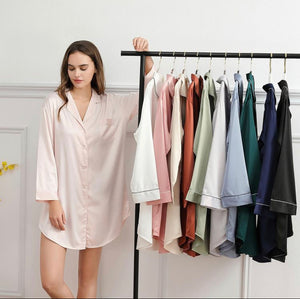 Satin Night Shirt (6011)-preorder closing March 3rd