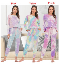 Load image into Gallery viewer, Tie Dye Long Sleeved PJ Set-preorder closing March 3rd