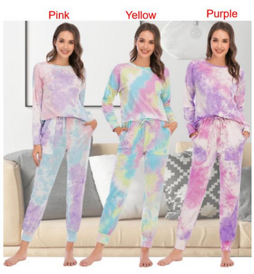Tie Dye Long Sleeved PJ Set-preorder closing April 14th