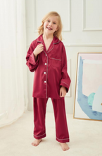 Load image into Gallery viewer, Long Sleeved Satin PJ Set-preorder closing March 3rd