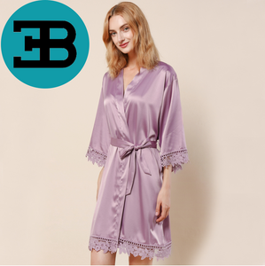 Lace Trimmed Robe (3031)-preorder closing March 3rd