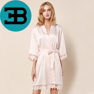 Lace Trimmed Robe (3031)-preorder closing Dec 16th
