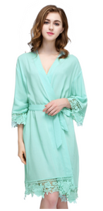 Cotton Lace Trimmed  Robes (3028) -preorder closing April 14th