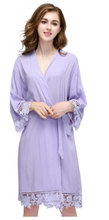 Load image into Gallery viewer, Cotton Lace Trimmed  Robes (3028) -preorder closing April 14th