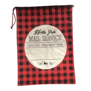 Santa sack plaid