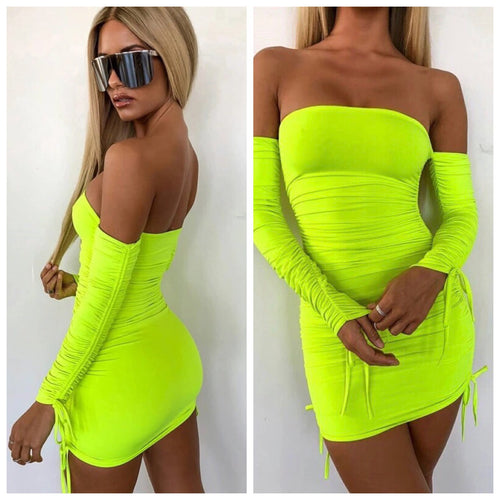 Take me anywhere neon dress