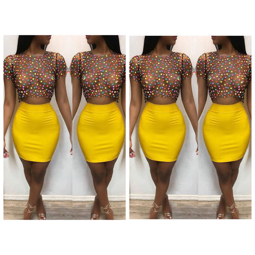 Skittles two piece dress - Vixenaffairshop