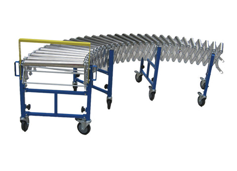 AS450-ROLL - Heavy Duty Steel Wheel Expandable Conveyor
