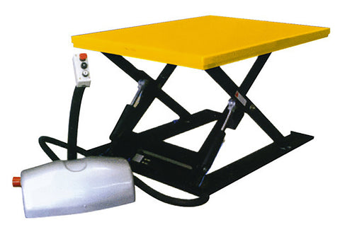 1000kg Low Profile Scissor Table with Ramp - ASL1000