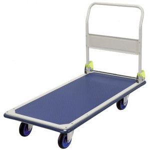 FL361 Prestar Single Steel Platform Trolley With Fold Down Handle