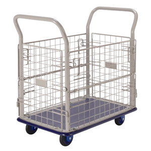Prestar Platform Trolley with Removable Wire Mesh Sides - NB107