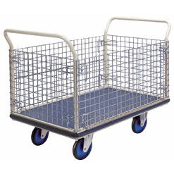 Prestar Platform Trolley with Removable Wire Mesh Sides - NG407