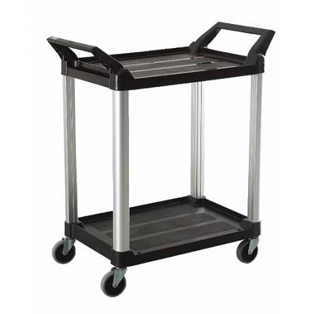 Trust Utility Cart 2 Tier Service Trolley Black - RT4010