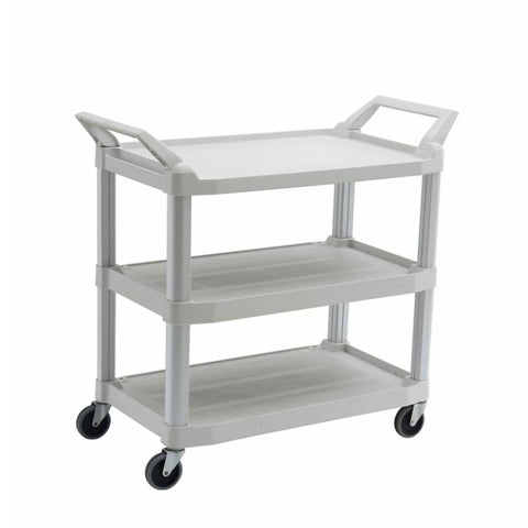 Trust Utility Cart, 3 Tier Service Trolley White - RT4021-OW