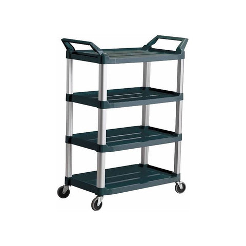 Trust Utility Cart, 4 Tier Service Trolley Black - RT4026