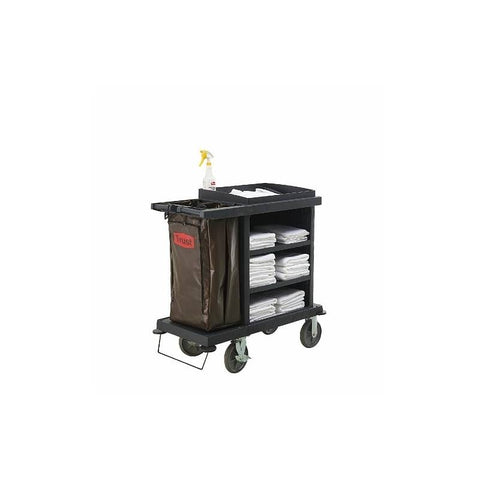 Trust Grandmaid Cruise Housekeeping Cart Black - RT5051
