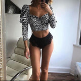 Leopard Crop Top - Givac Roma
