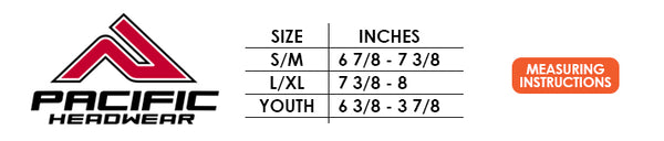 Pacific Hat Sizing Guide