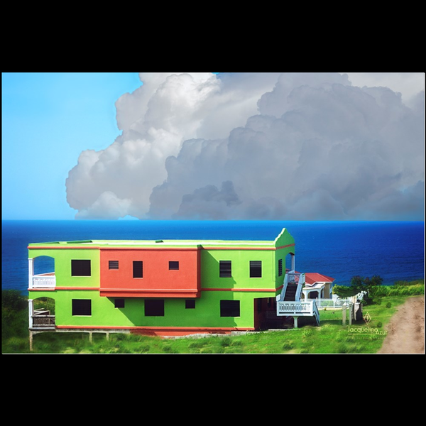 Watermelon House - art photograph under acrylic wall art