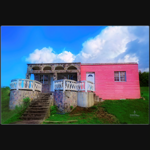 Bubblegum House - Art Photograph on metal print wall art
