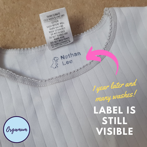 Design Your Own Textile Stamp - The best iron on labels alternative (Iron on clothing labels/Clothing labels Australia alternatives)