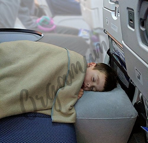 Inflatable SeatBed Travel Pillow with built-in pump