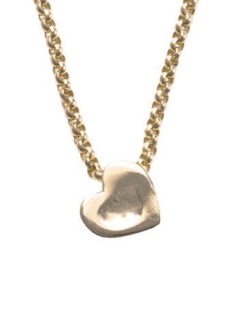 dented heart on chain