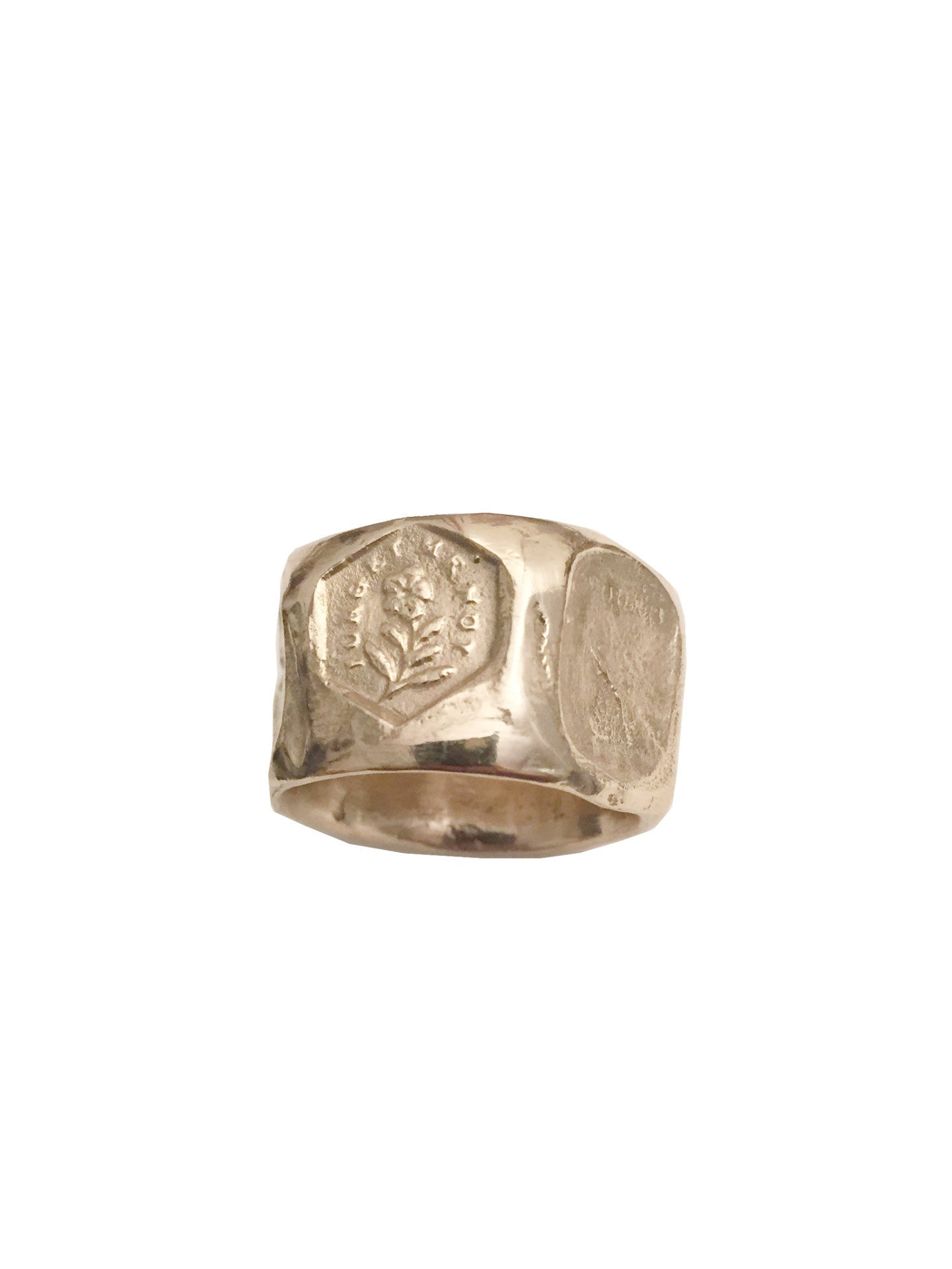 faceted intaglio ring
