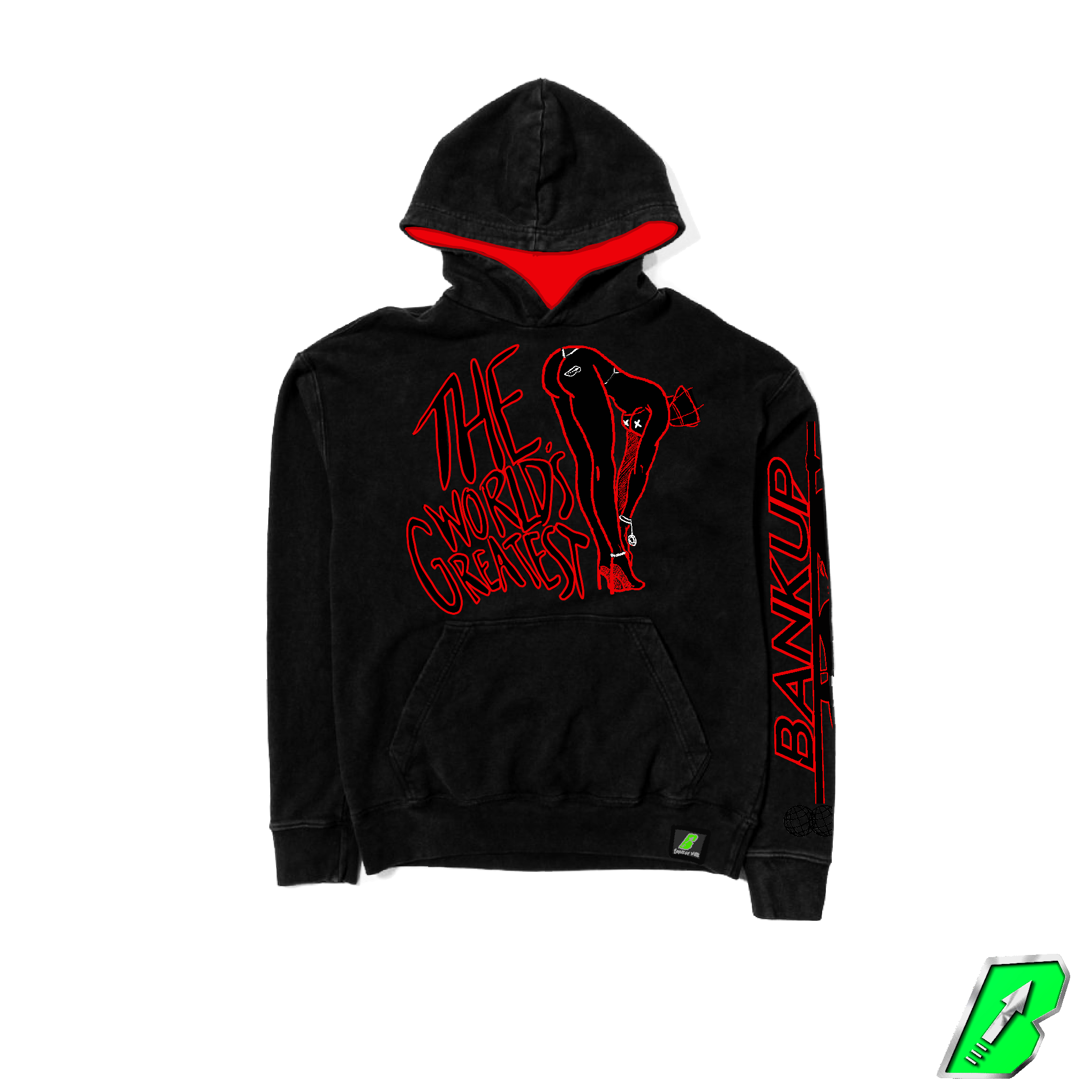 """The Worlds Greatest"" Long Sleeve Pullover Hoodie - Bankup Worldwide"