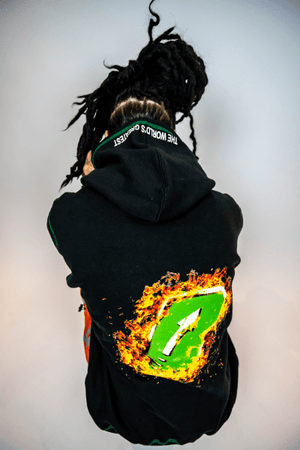 """B on Fire"" Hoodie - Bankup Worldwide"