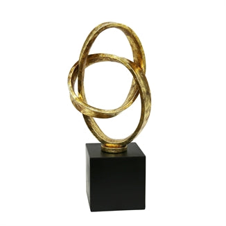GOLD LOOPED SCULPTURE