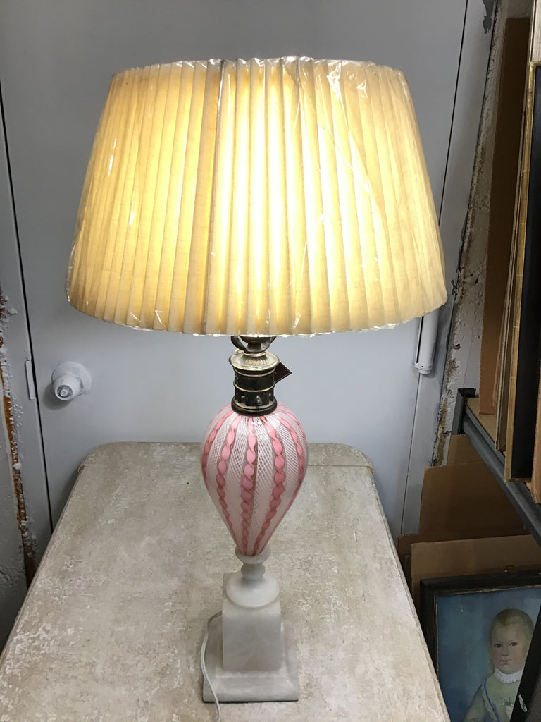 Petite Murano lamp with marble base