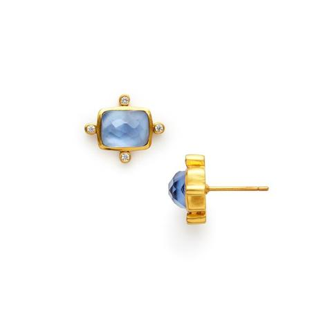 CLARA STUD EARINGS BLUE