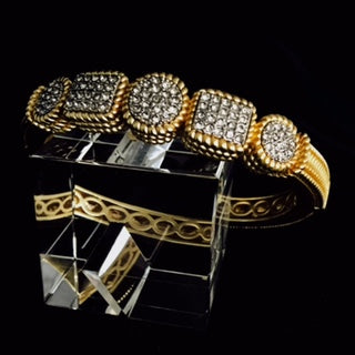 Bracelet Round circle with Pave Gold