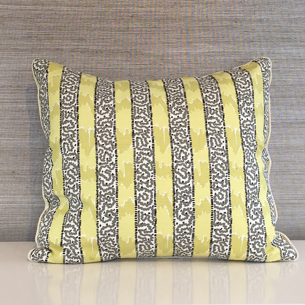 "THE GRACE CUSTOM STRIPE PILLOW   -  Camel, Grey and White  -  22"" x 22""  -   Two in Stock  -   FREE SHIPPING                      Sold in Pairs Only  -  FREE SHIPPING"