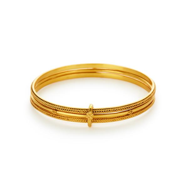 Isabel Trio Bangle Gold